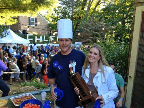 Chilifest 2013 grand prize winner Sean Horan with wife Renae of Atlantic Highlands Photo courtesy Charlotte Magee
